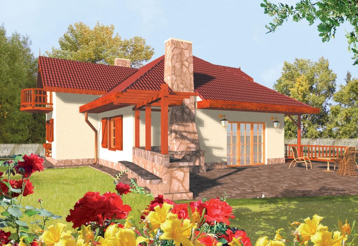 каркасный дом к-14
