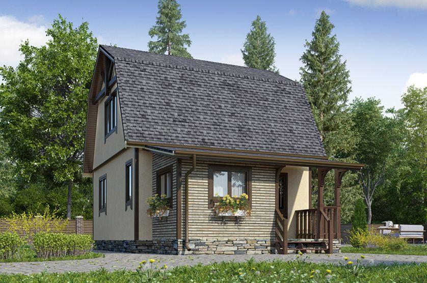 каркасный дом к-15