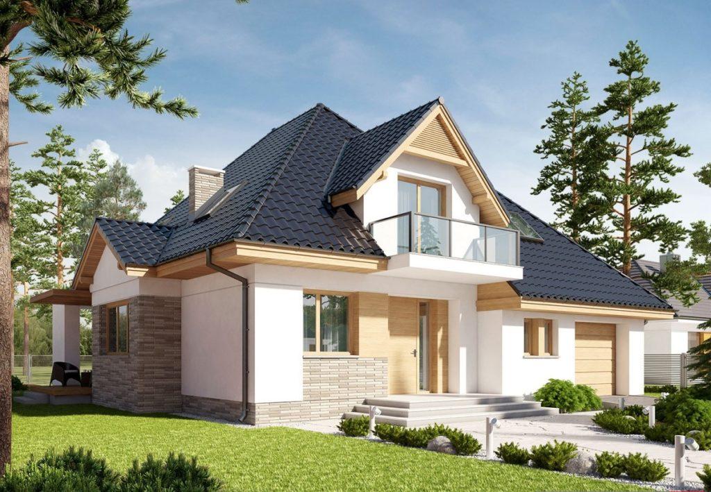 каркасный дом к-10